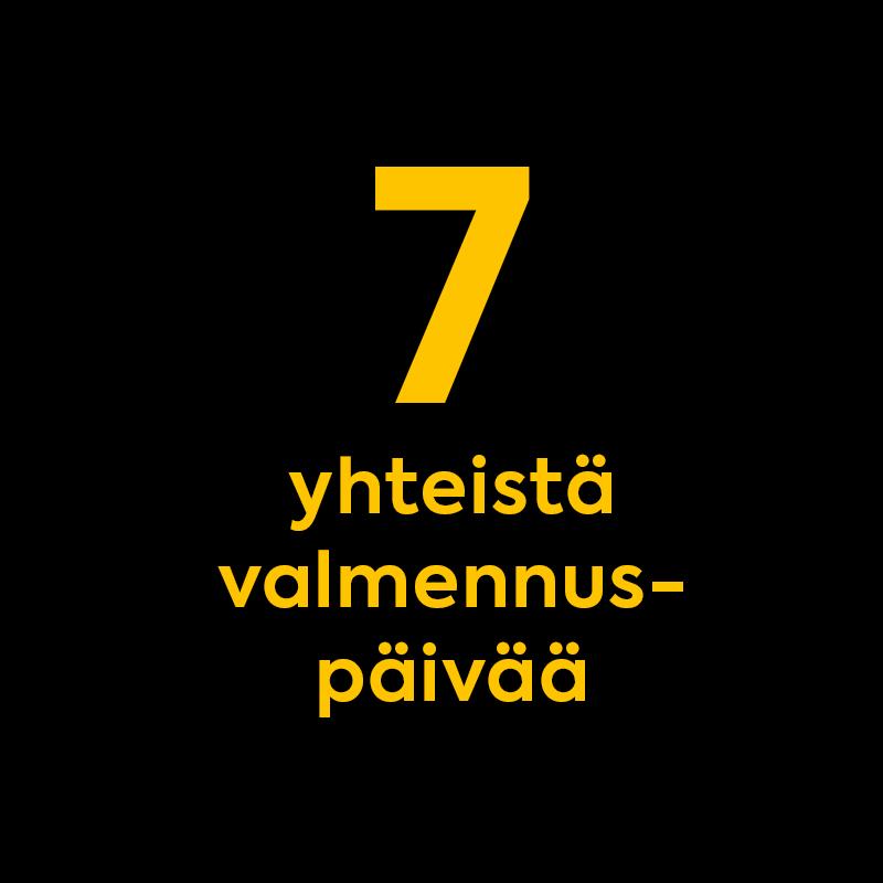 Seitsemän yhteistä valmennuspäivää
